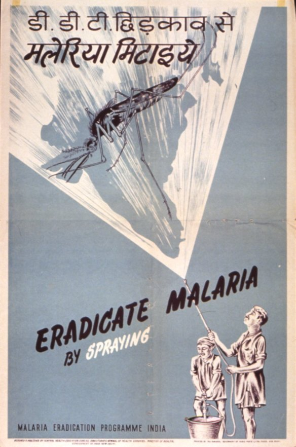 Malaria eradication campaigns have been with us for decades but are they now transitioning from spraying insecticides to releases genetically modified mosquitoes? (Source: National Library of Medicine)