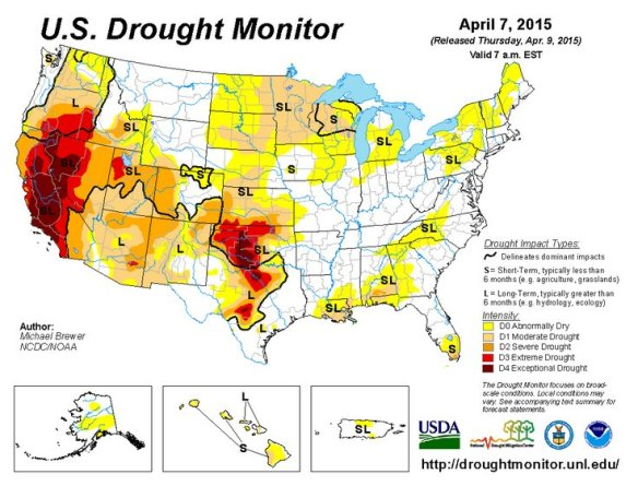 USDroughtMonitors_7April2015